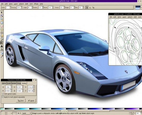 Inkscape Gadgets for Graphics Designer