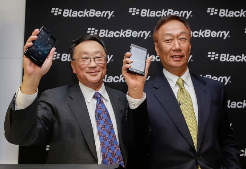Black berry smartphone