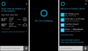 Using cortana for basic functions