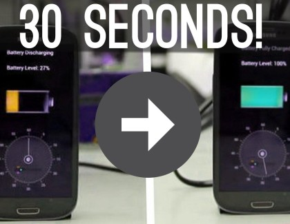 Charge Your Smartphone Battery in 30 Seconds