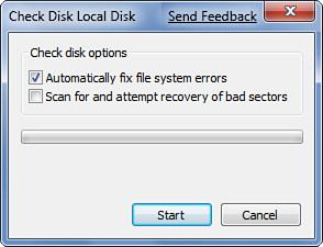 Check the Hard Disk for Signs of Errors