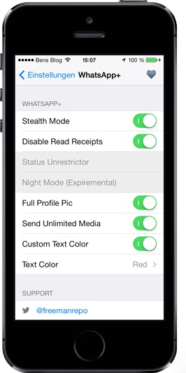 install whatsapp plus ios