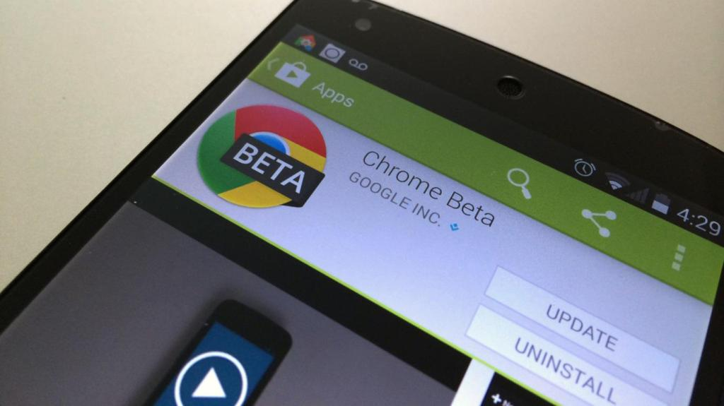 Google Updates for Chrome Beta