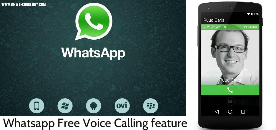 Whatsapp free voice calling feature