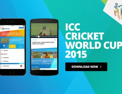 ICC CRICKET WORLD CUP 2015 APP LAUNCHED