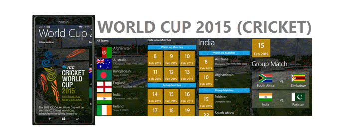 ICC Cricket World Cup 2015 App