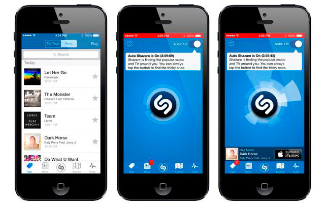 Shazam, the music app for Iphone
