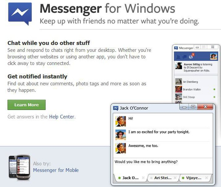 Facebook Messenger for Desktop