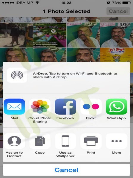 Photos app to WhatsApp directly