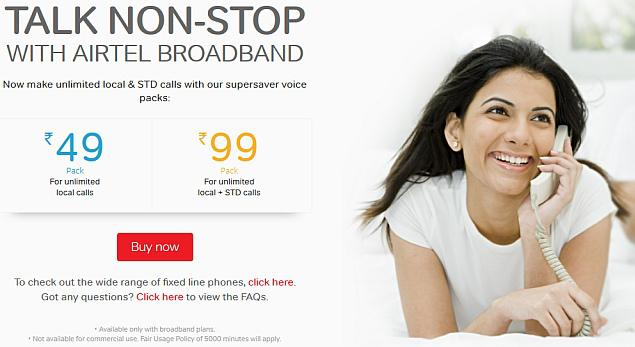 Talk Non-Stop with Airtel Broadband