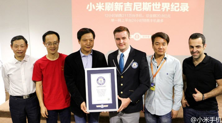 Xiaomi Gets a Place in Guinness World Records
