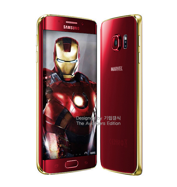 Sample mockup of the limited edition iron man smartphone