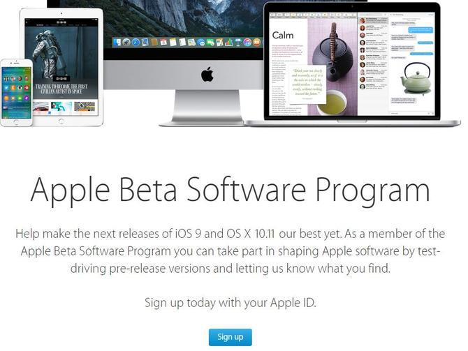 ios 9 beta enrol