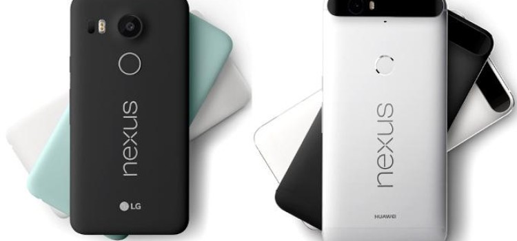 Upcoming Nexus Smartphones – Google LG Nexus 5X and Google Huawei Nexus 6P