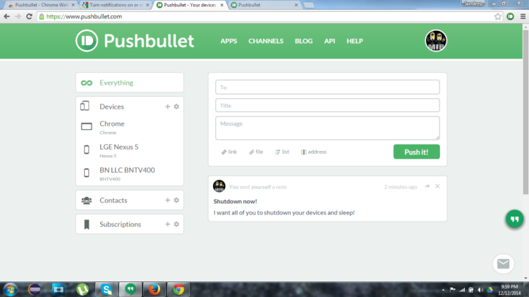 Pushbullet - Google Chrome Extensions