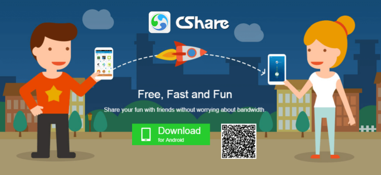 CShare(Transfer File anywhere) - Top 5 Data Transferring Apps