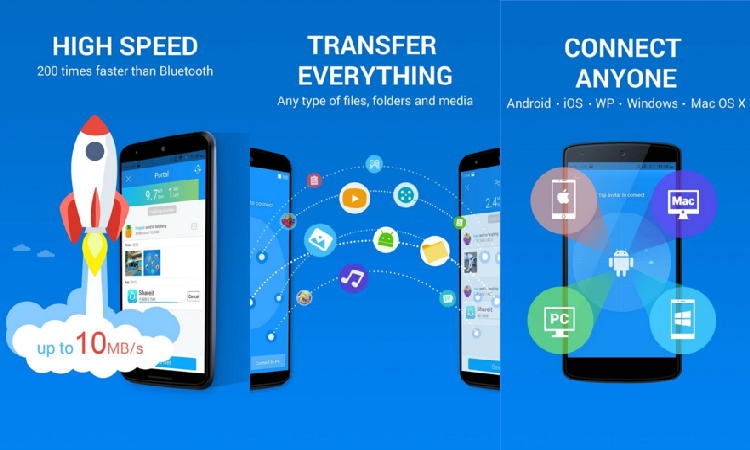 SHAREit - Connect & Transfer - Top 5 Data Transferring Apps