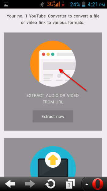 Select the Extract Audio - Video Option - YouTube Videos