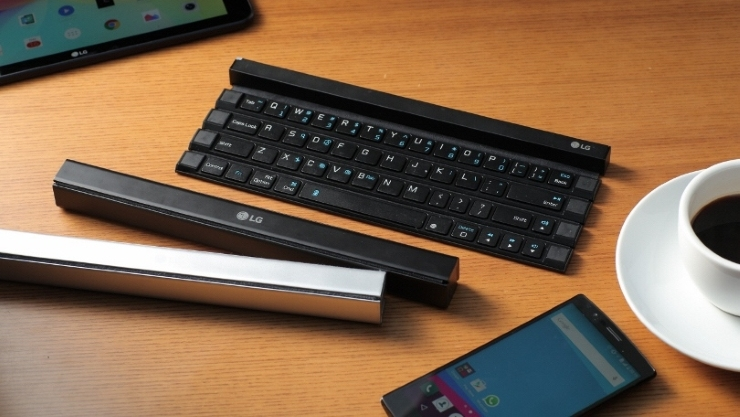 LG's new smartphone keyboard Rolls up