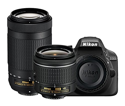 Flat 50% Off on Nikon D3400 w/ AF-P DX NIKKOR 18-55mm f/3.5-5.6G VR & AF-P DX NIKKOR 70-300mm f/4.5-6.3G ED