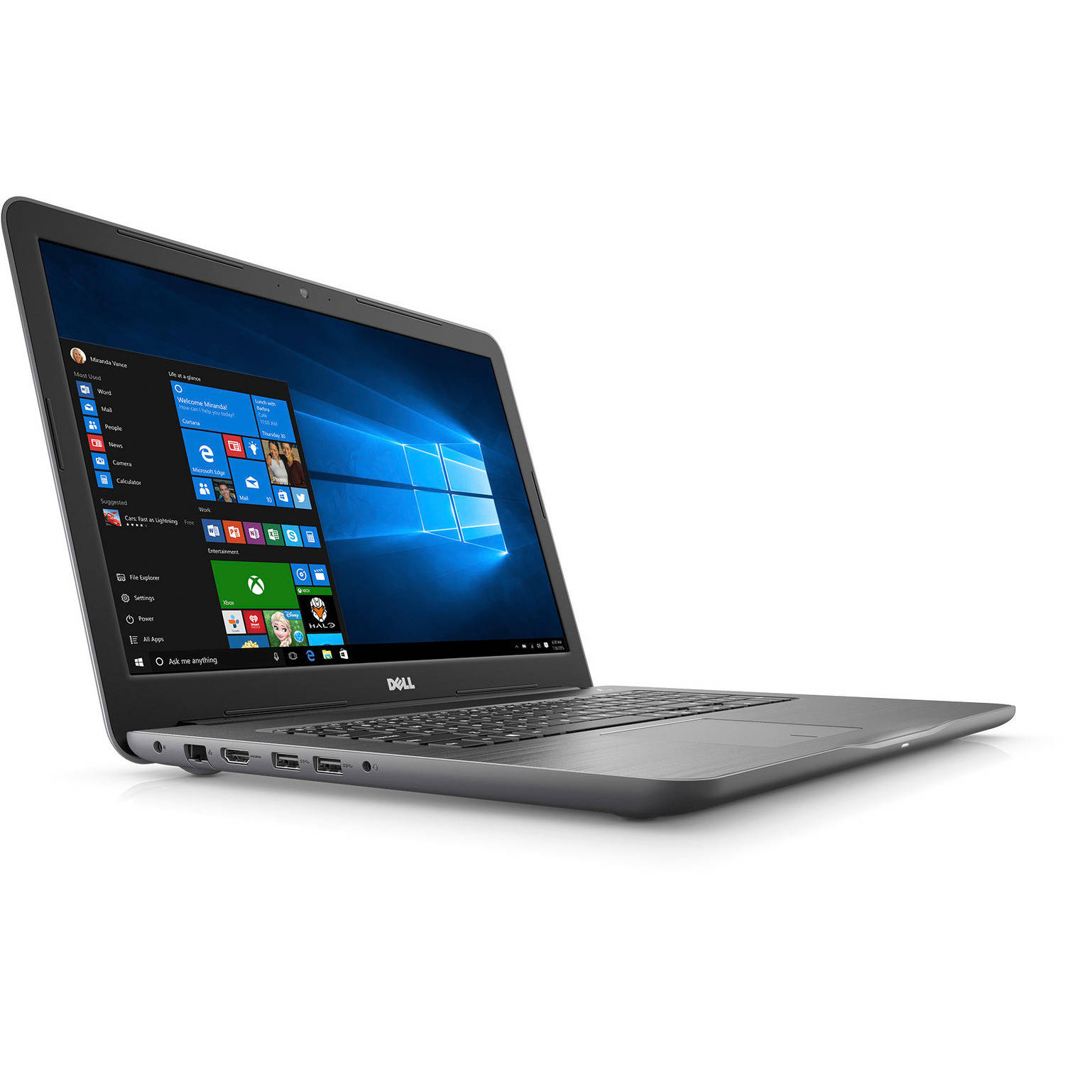 "Dell Inspiron i5765-2764GRY 17.3"" FHD Laptop (7th Generation AMD A12-9700P, 8GB RAM, 1TB HDD)"